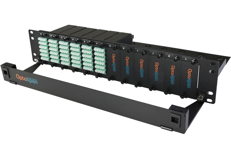 144 Port Fiber Optic Patch Panel 2U Multimode 24F MTP-LC