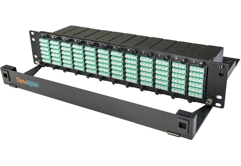 288 Port Fiber Optic Patch Panel 2U Multimode OM4 MTP-LC