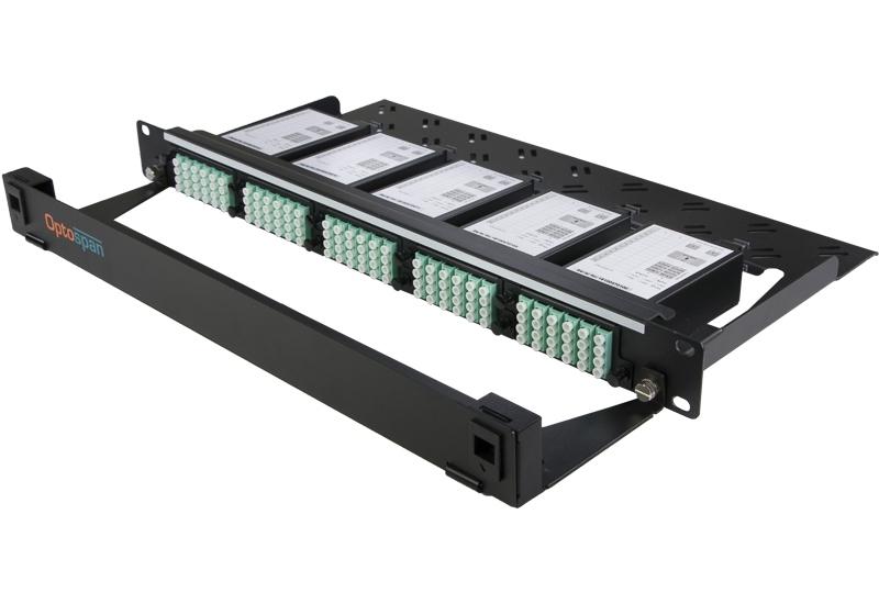 48 Port Fiber Optic Patch Panel 1U Multimode OM4 MTP-LC