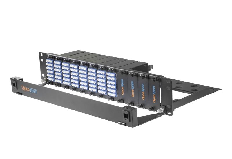 192 Port 2U Fiber Optic Patch Panel Single mode MTP-LC