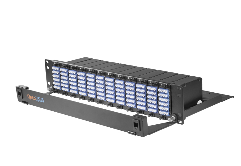 288 Port 2U Fiber Optic Patch Panel Single mode MTP-LC