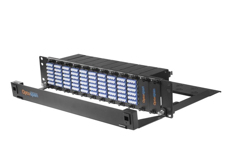 240 Port Fiber Optic Patch Panel 2U Single mode 24F MTP-LC