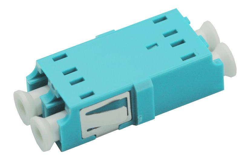 Fiber Optic Adapter LC Multimode (OM3/OM4) Duplex No Flange