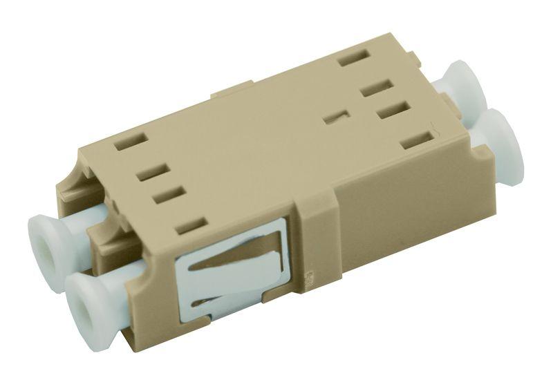 Fiber Optic Adapter LC Multimode Duplex No Flange