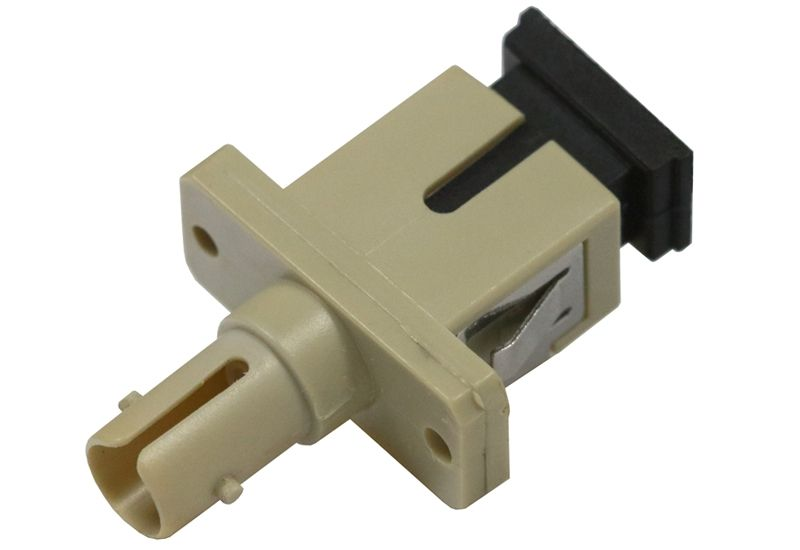 Fiber Optic Adapter ST Multimode Simplex Full Flange