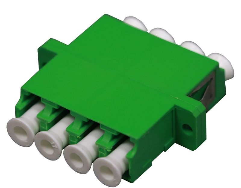 Fiber Optic Adapter LC APC Single-mode Quad Full Flange