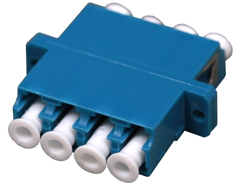 Fiber Optic Adapter LC Single-mode Quad Full Flange
