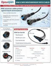 IP68 Weatherproof LC/MPO Fiber Cables