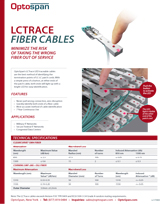 LC-Trace Traceable LC Fiber Cables