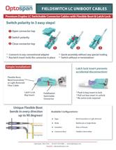 FieldSwitch™ Uniboot Duplex Fiber Cables