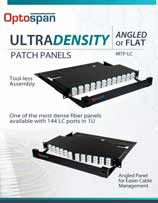 Ultra Density Patch Panels
